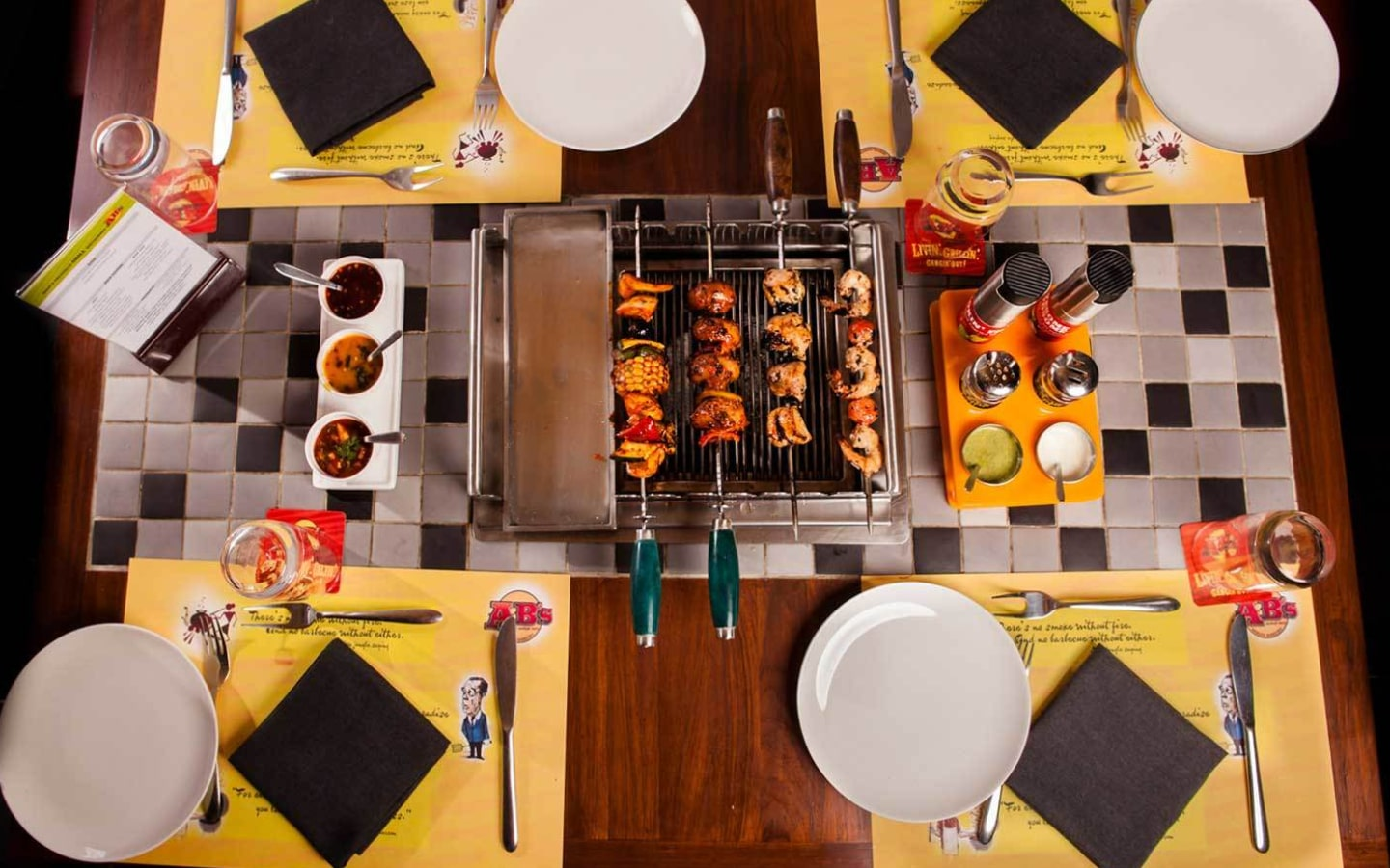View of the table grill at Absolute Barbecues Sheikh Zayed Road restaurant