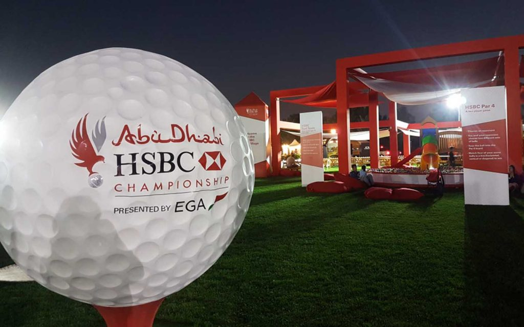 Golf Course during the HSBC Abu Dhabi Golf Championship