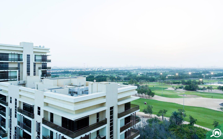 Abu Dhabi Golf Club view