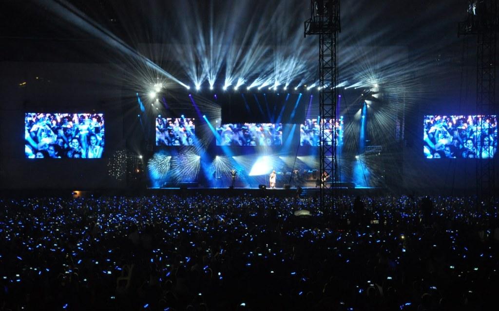 View of Abu Dhabi Grand Prix concerts happening in du Arena