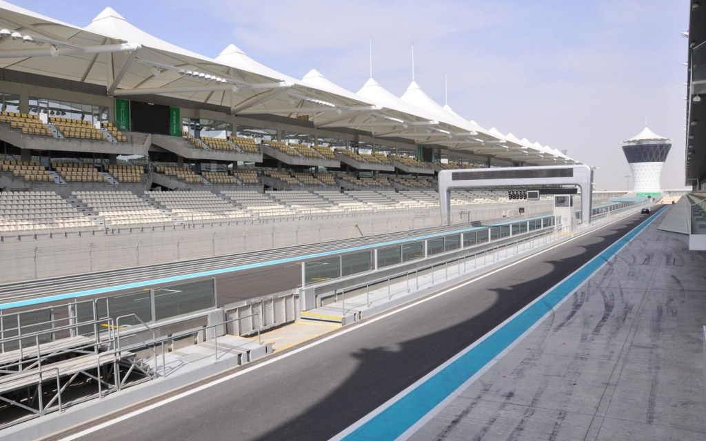 View of Grandstand seating at Abu Dhabi Grand Prix