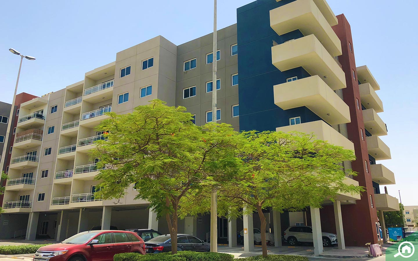 View of apartments in Al Reef, where foreign investors can buy property in Abu Dhabi