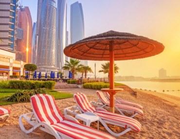 View of beach in Abu Dhabi