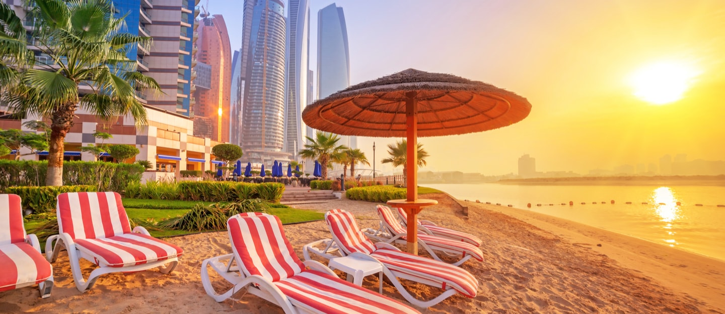 View of beach in Abu Dhabi
