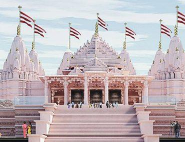 Artist's rendering of the Abu Dhabi Hindu Temple