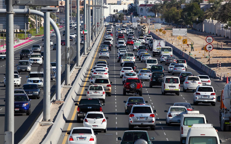 View of traffic in Abu Dhabi