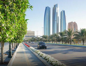 empty road in Abu Dhabi