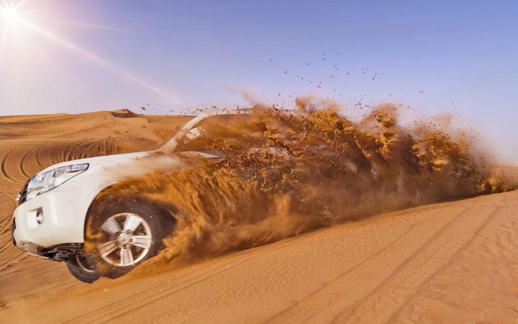 Dune bashing in Abu Dhabi