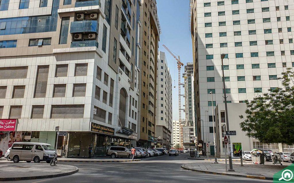 Buildings in Abu Shagara