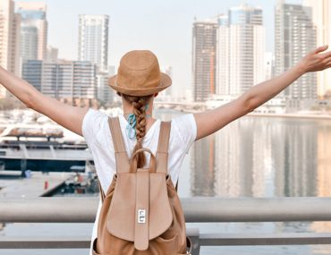Girl traveller in Dubai