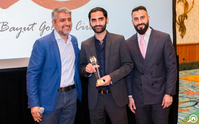 Aeon & Trisl Real Estate Brokers LLC receiving the Golden Circle award at the Bayut Iftar