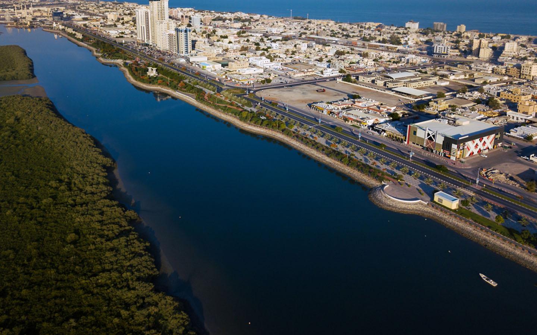 Aerial View of the RAK Corniche