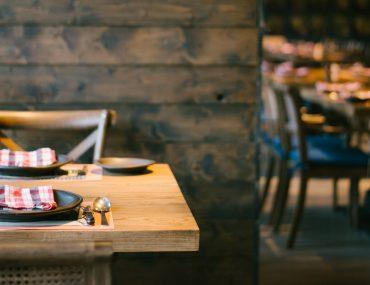 Interior of Afghan restaurant in Dubai