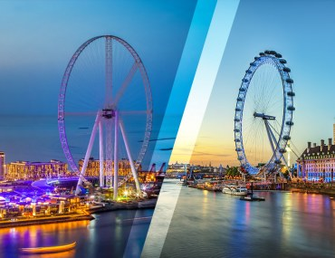 Ain Dubai And London Eye