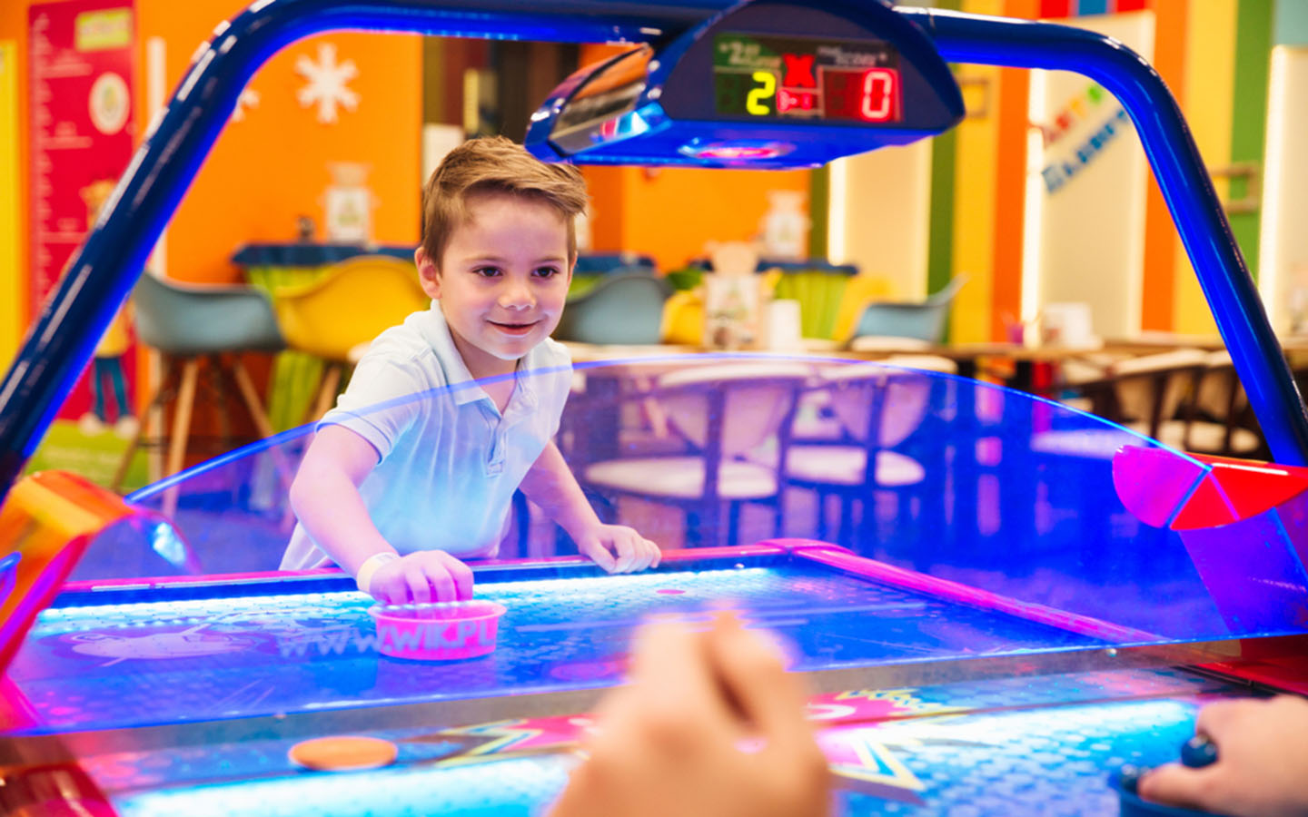 Air hockey at Dubai Magic Planet
