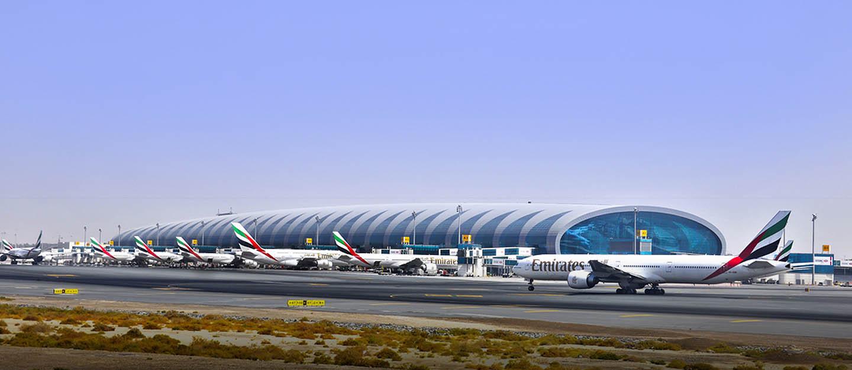 View of Dubai International airport