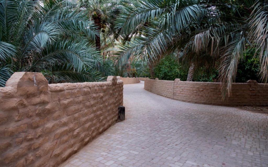 Walkway and gardens at Al Ain oasis