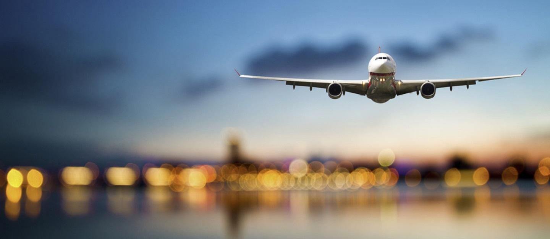 A plane preparing for landing at the Al Ain International Airport