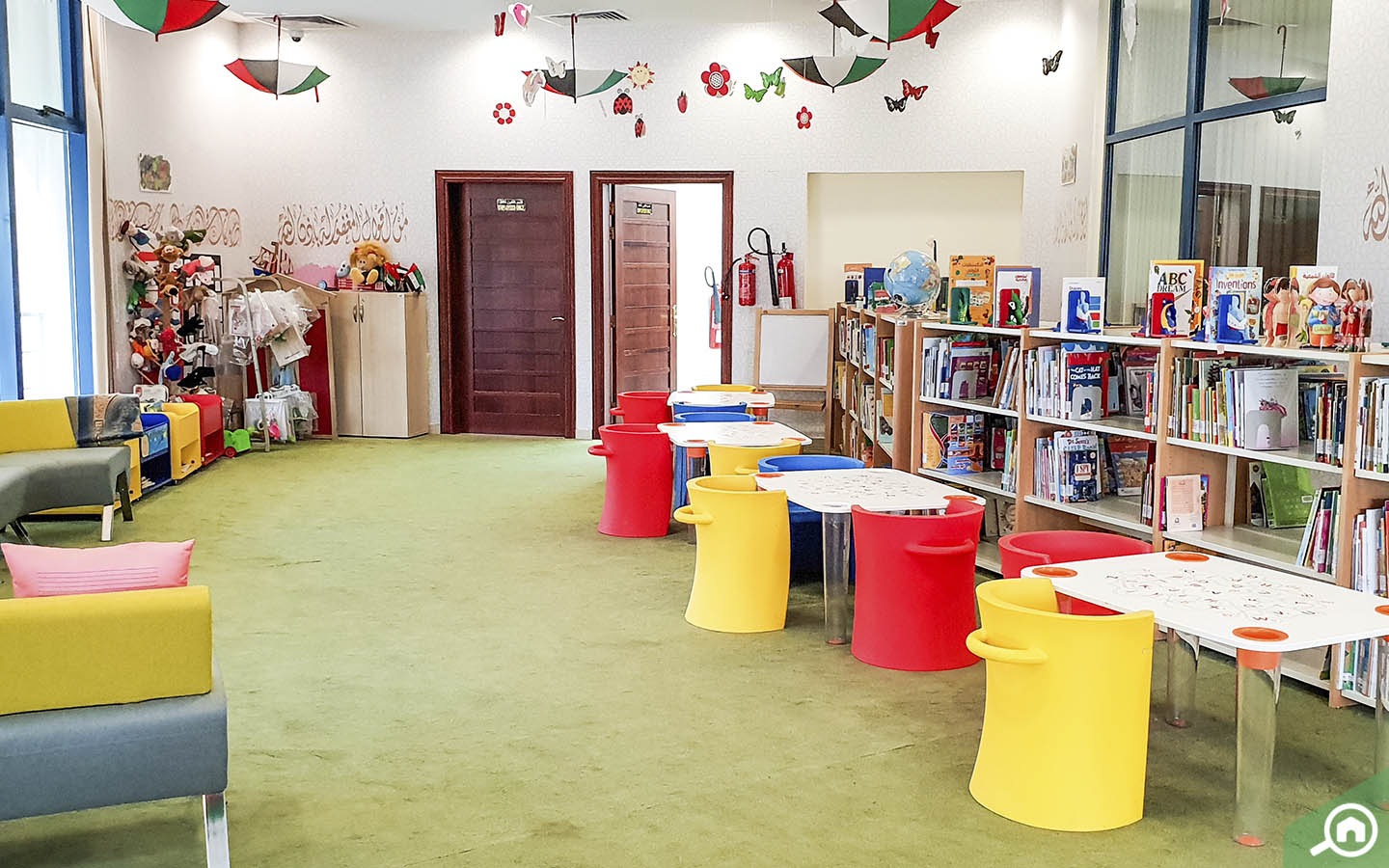 Children's Section in Public Library in Abu Dhabi