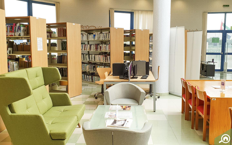 Reading corner in public libraries in Abu Dhabi