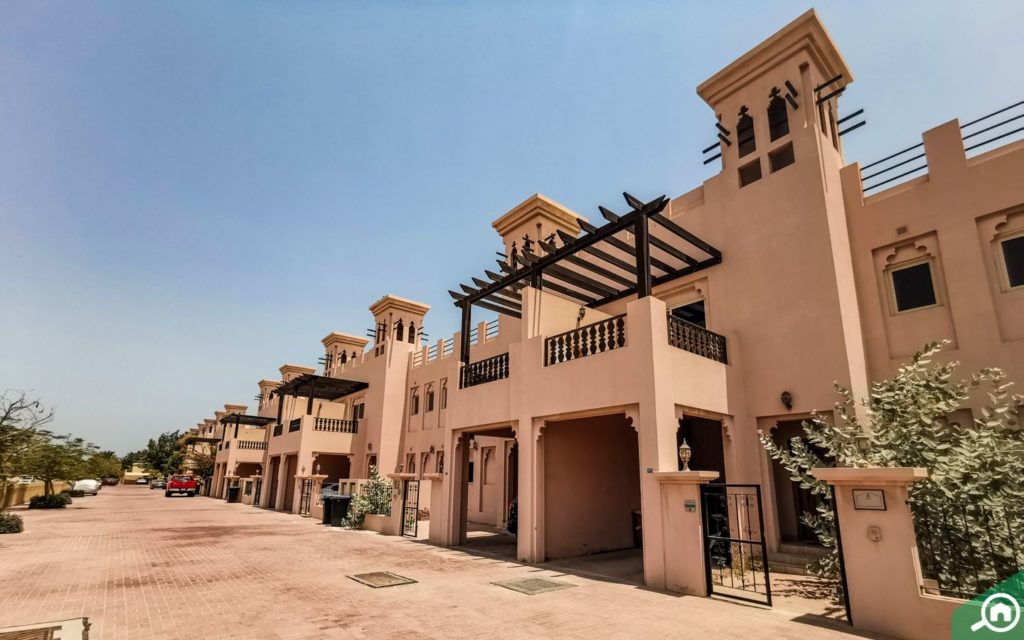street view of Al Hamra Village, which has villa for rent in RAK