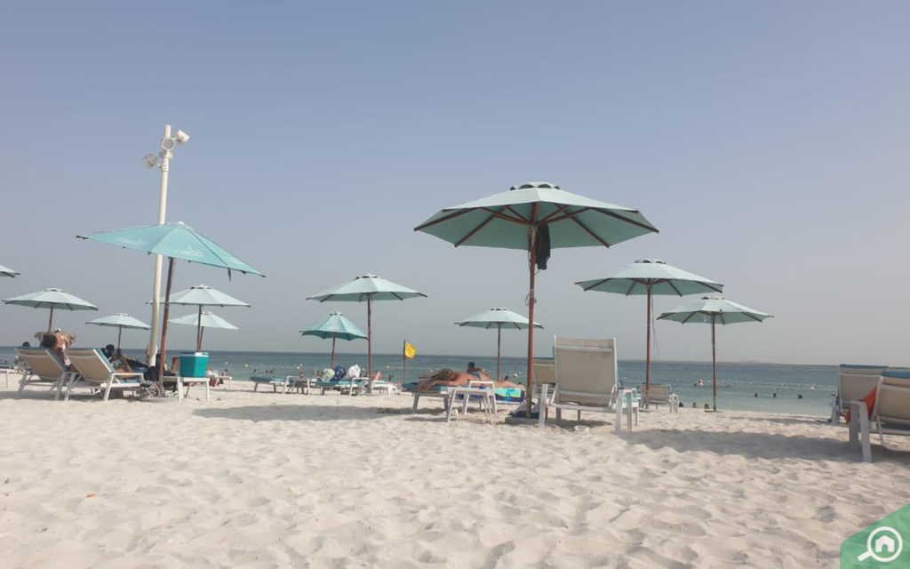 Al Hudayriat Island beach