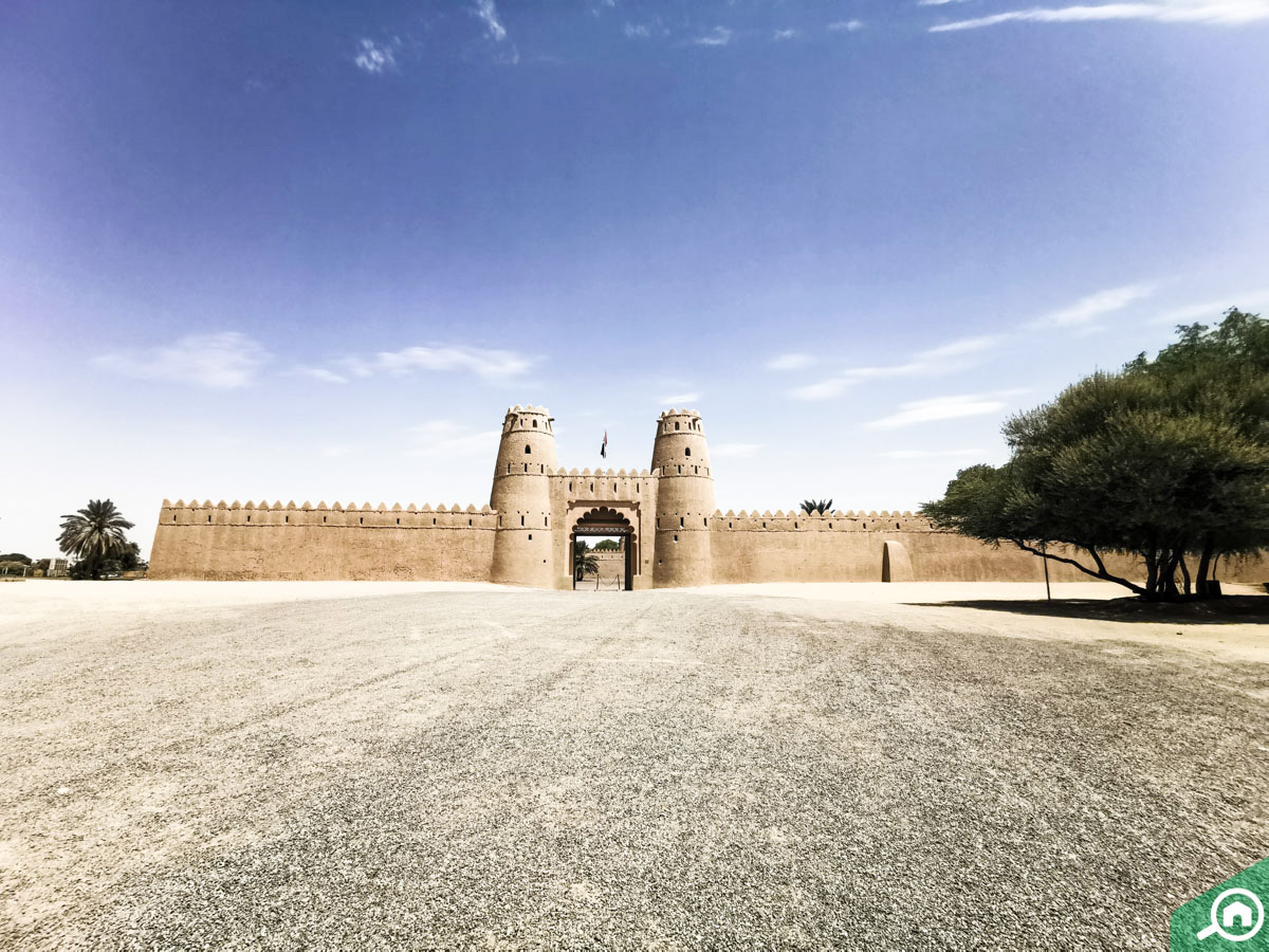 Courtyard area of the Al Jahili Fort