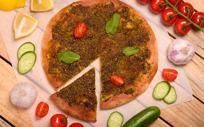 Manakish Arabian food.