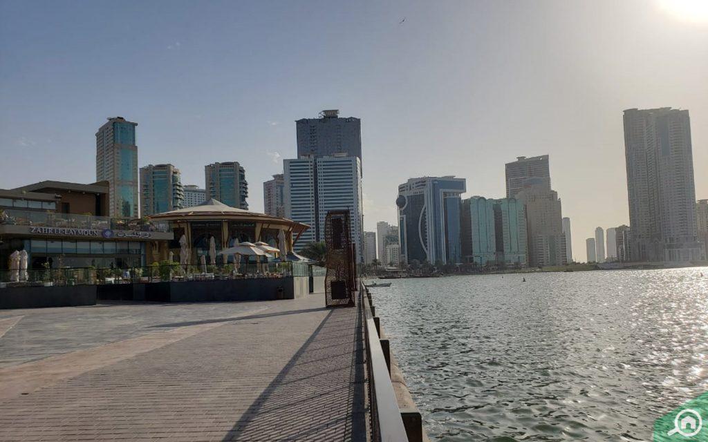 A view of Al Majaz Waterfront Park