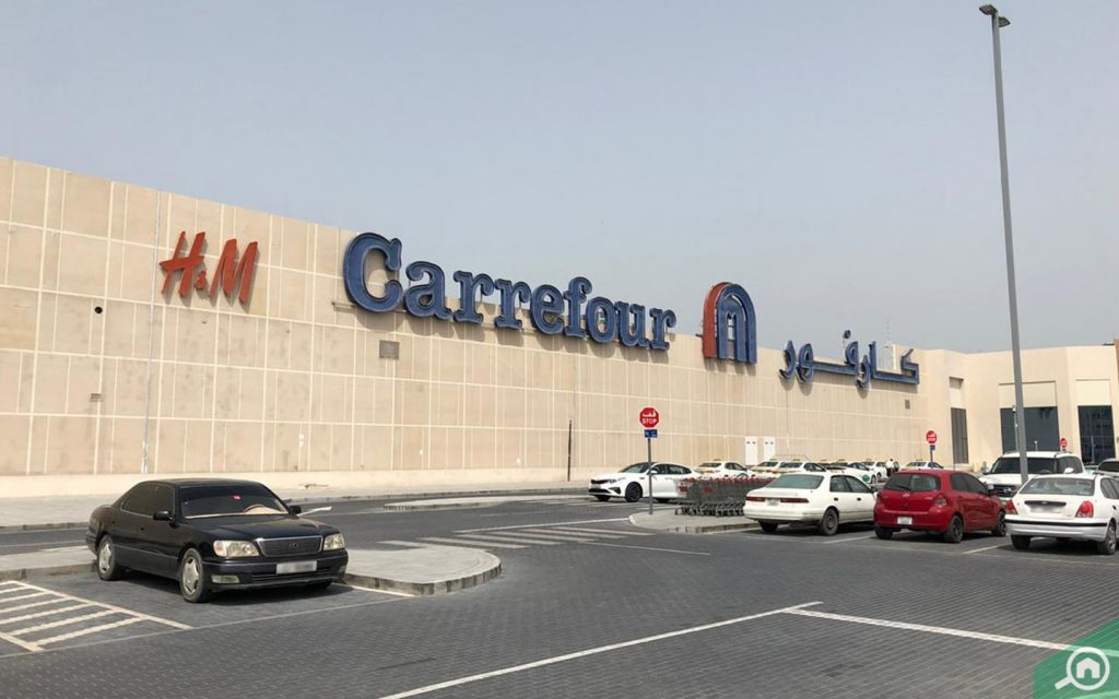 Outdoor view of Carrefour supermarket at Manar Mall RAK