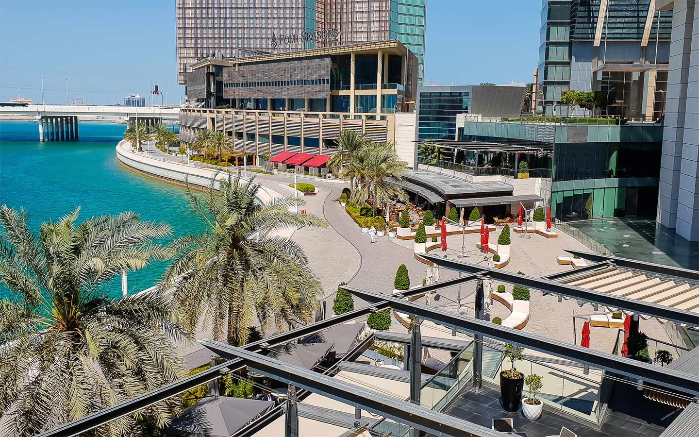 Waterfront promenade and Four Seasons Hotel in Al Maryah Island