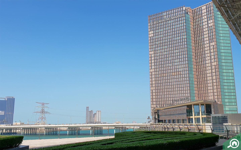Four Season Hotel apartments for rent on Al Maryah Island