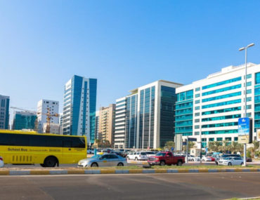 View of Al Muroor Road, one of the popular areas for Indians in Abu Dhabi