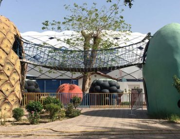 View of Kids Entertainment Area with rides at Al Nasr Leisureland