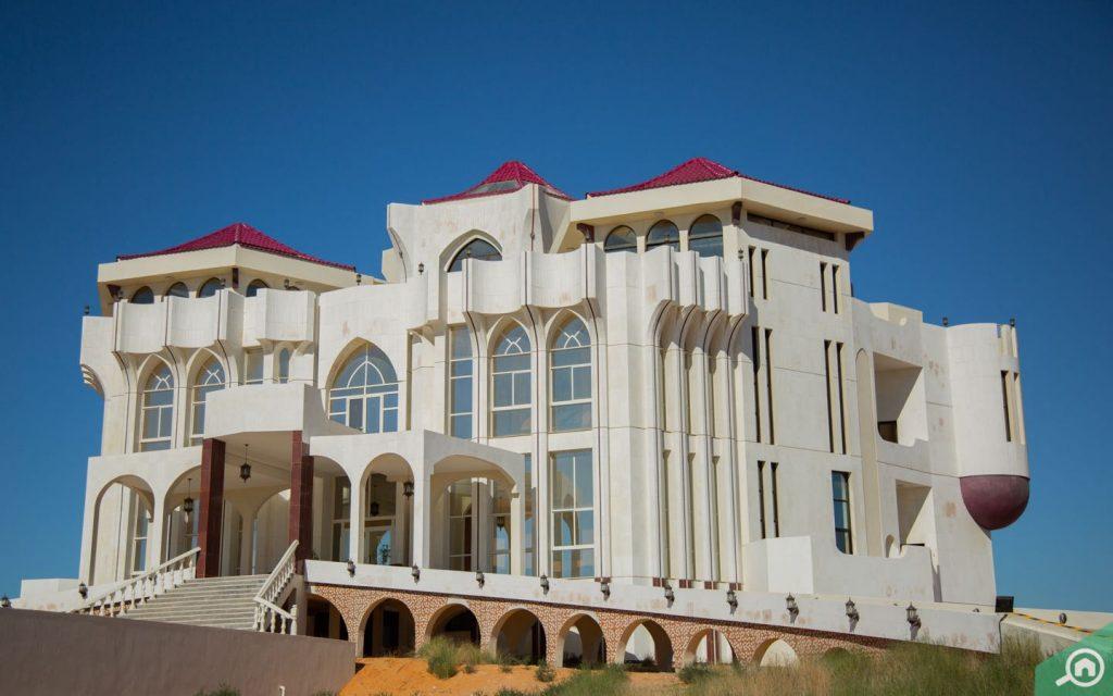 Exterior shot of Al Qasimi Palace RAK