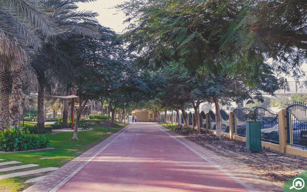 jogging track at Al Qusais Park