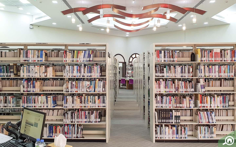 Interior of Al Wathba Library