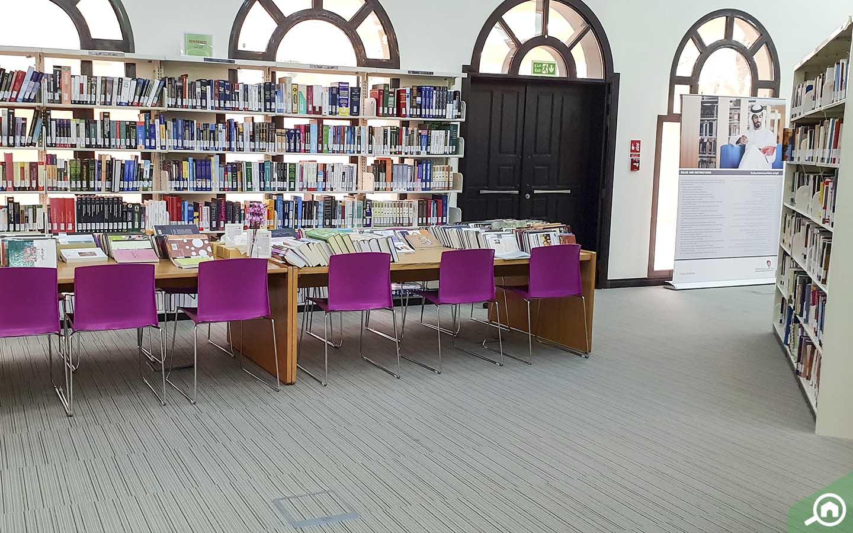 Reading Corner in Al Wathba Library