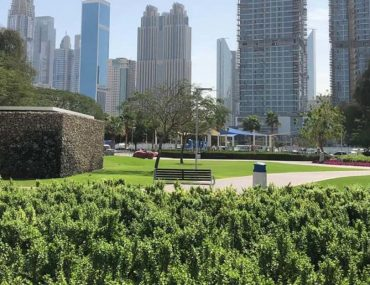 Lawns in Al Khazzan Park Dubai