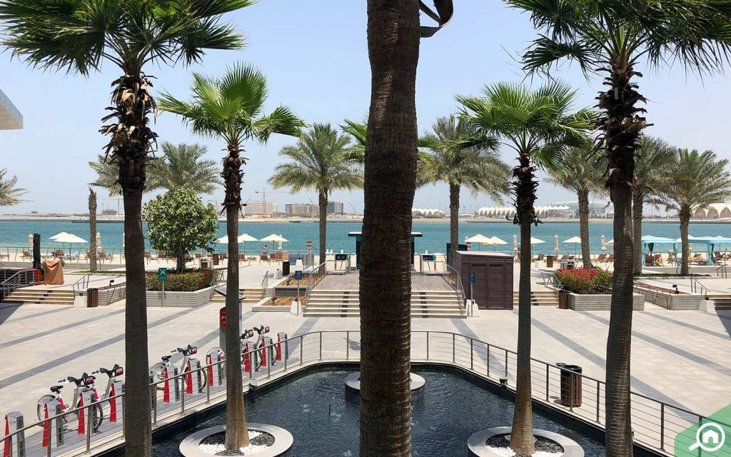 Al Raha Beach development with the sea in view