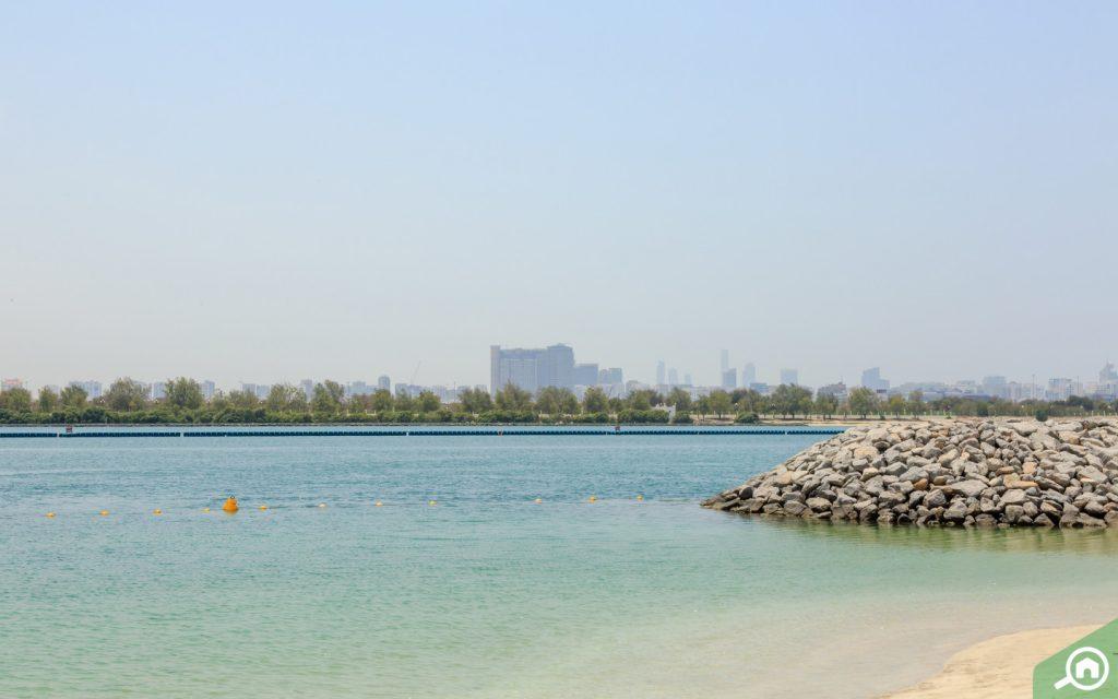 View of the sea from Al Reem Island villas