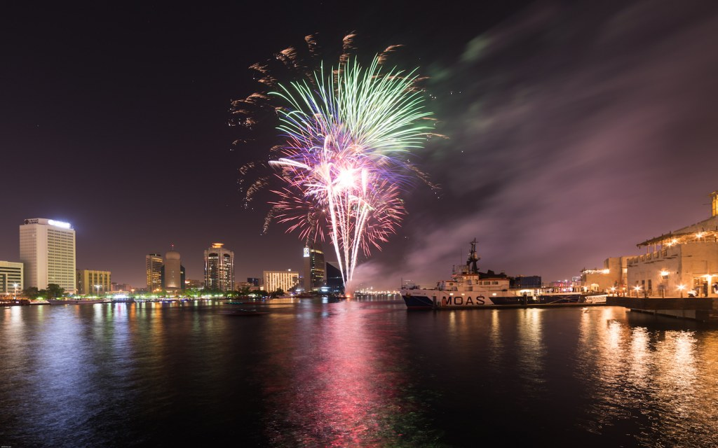 Fireworks in Al Seef Dubai