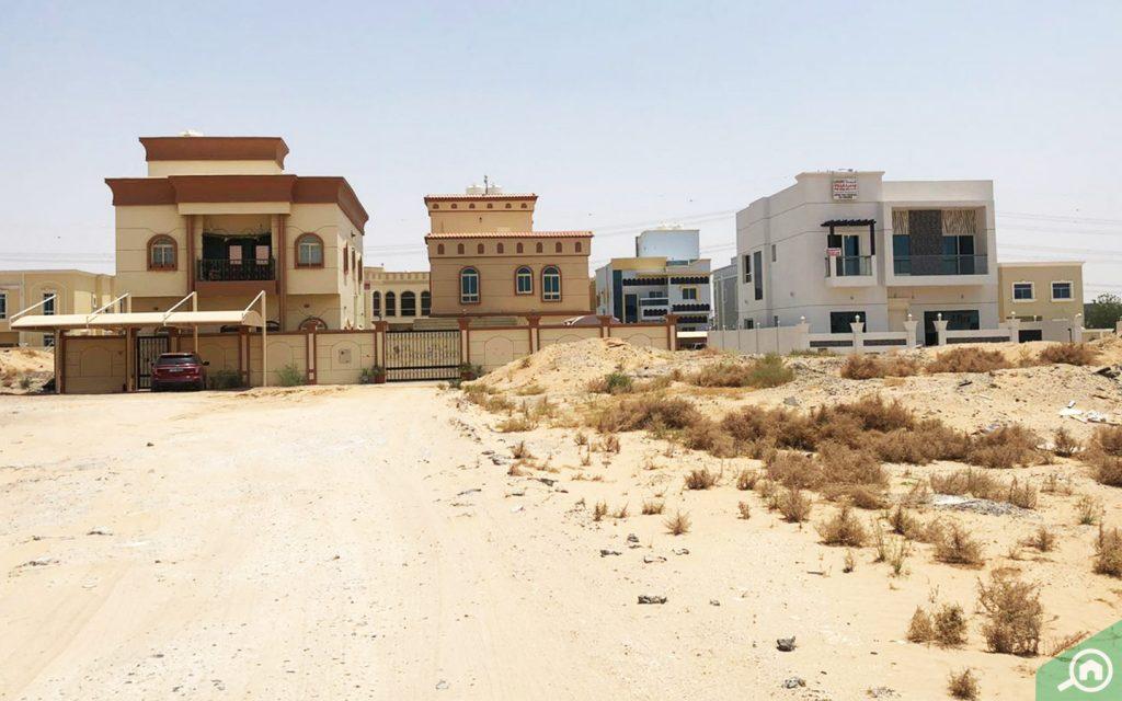 Street view of Al Yasmeen area, which has many villas for sale in Ajman