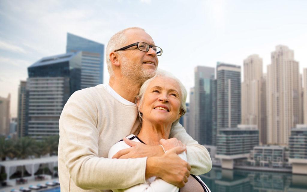 retired couple in Dubai