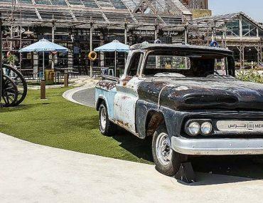 Abandoned car at Last Exit Dubai