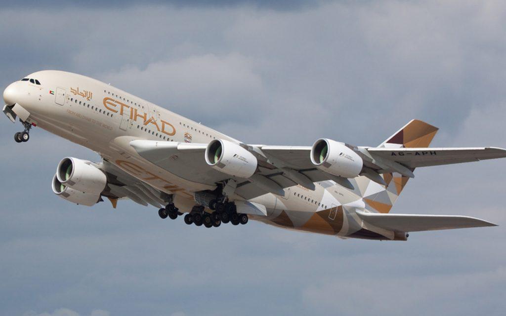 Etihad Airways plane taking off