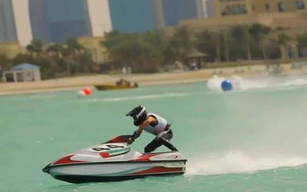 Jet ski riding in Dubai waters