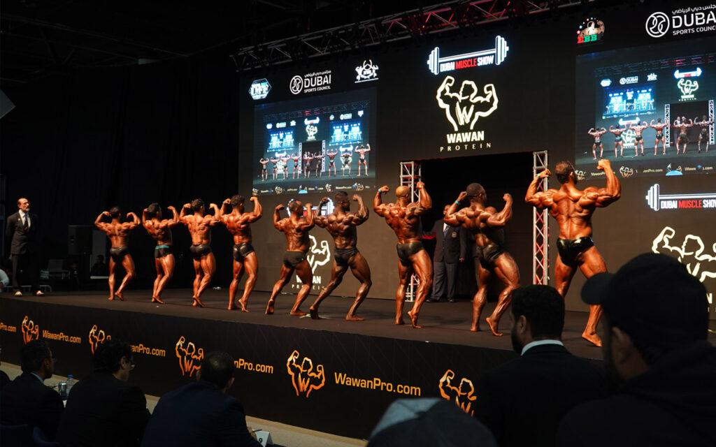 strongman at dubai muscle show 2019