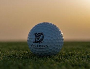 Yas Links golf ball on grass