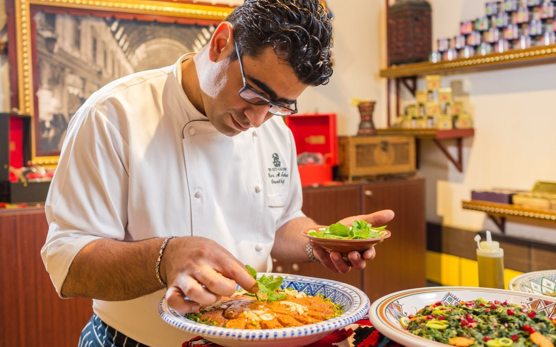 Chef Rami preparing iftar delicacies